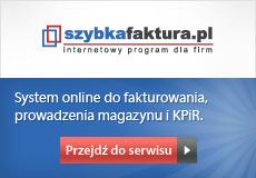 szybkafaktura.pl - System online do fakturowania, prowadzenia magazynu i KPiR.